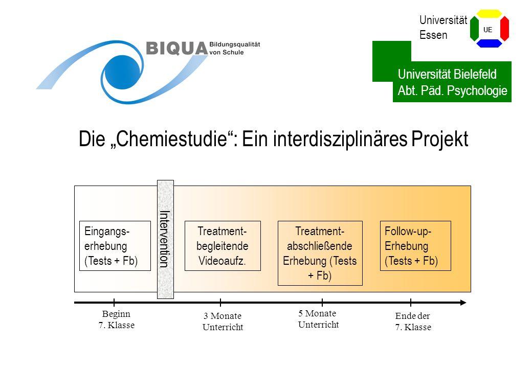 """Die """"Chemiestudie : Ein interdisziplinäres Projekt"""