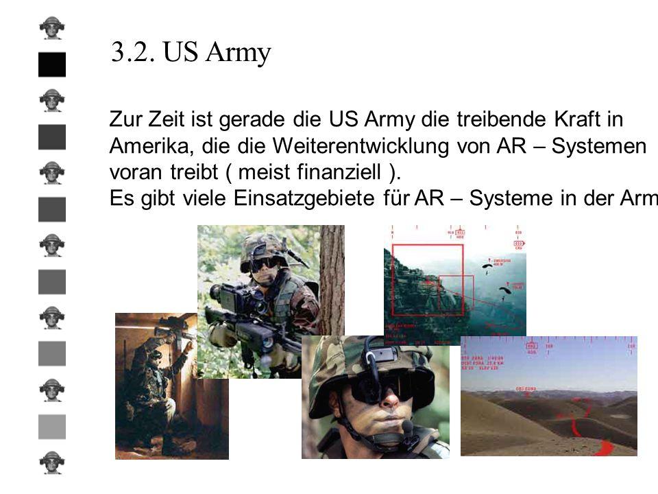 3.2. US Army Zur Zeit ist gerade die US Army die treibende Kraft in