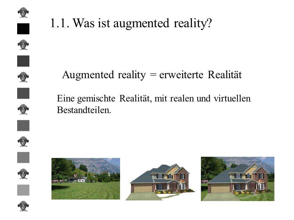 Augmented reality = erweiterte Realität