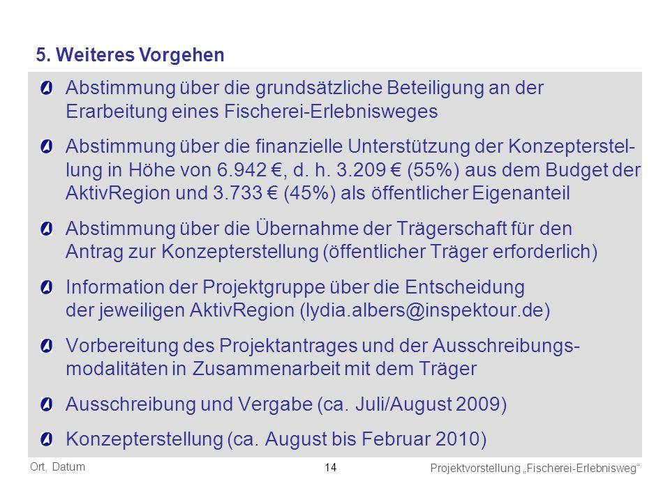 Ausschreibung und Vergabe (ca. Juli/August 2009)