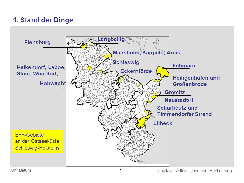 1. Stand der Dinge Langballig Flensburg Maasholm, Kappeln, Arnis