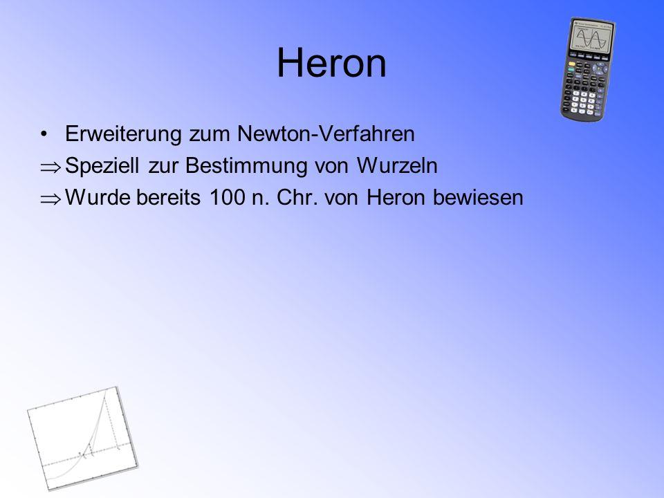 Heron Erweiterung zum Newton-Verfahren