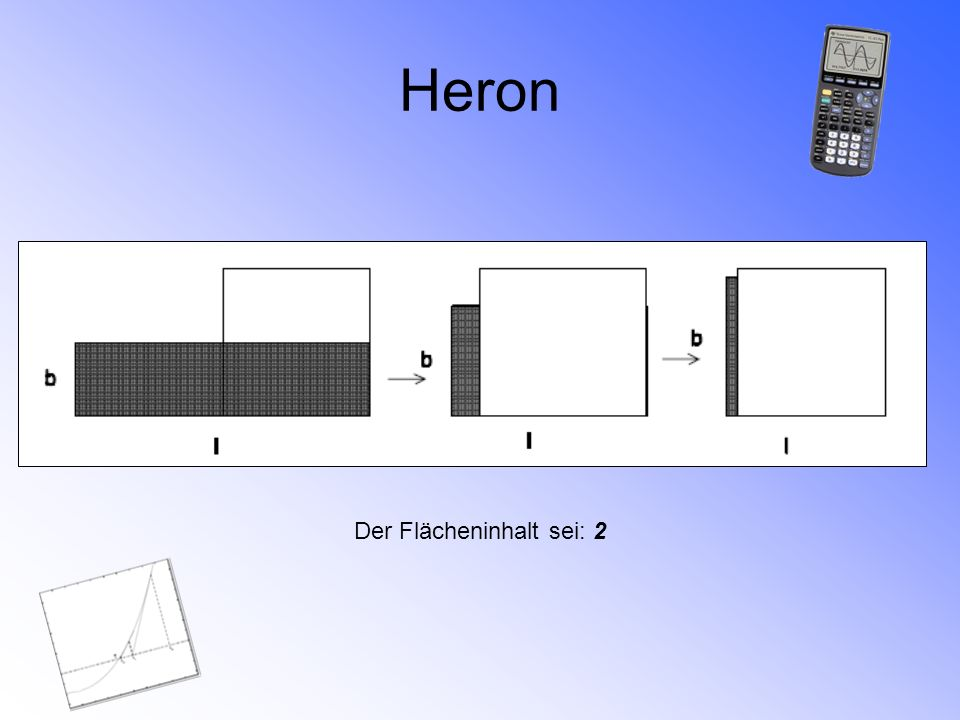 Heron Der Flächeninhalt sei: 2