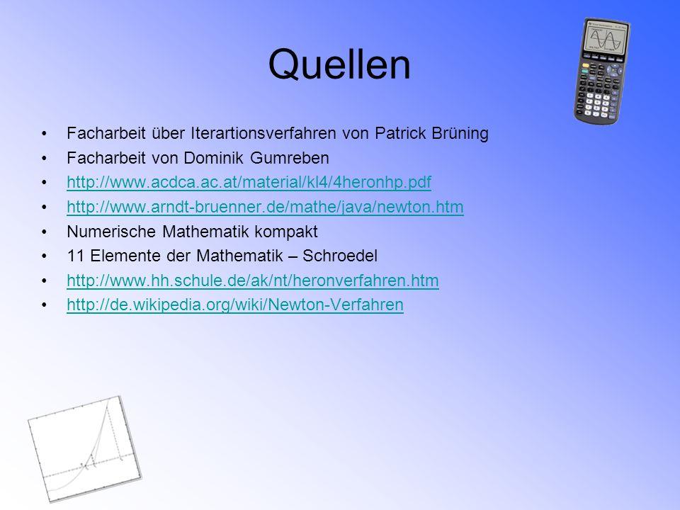 Quellen Facharbeit über Iterartionsverfahren von Patrick Brüning