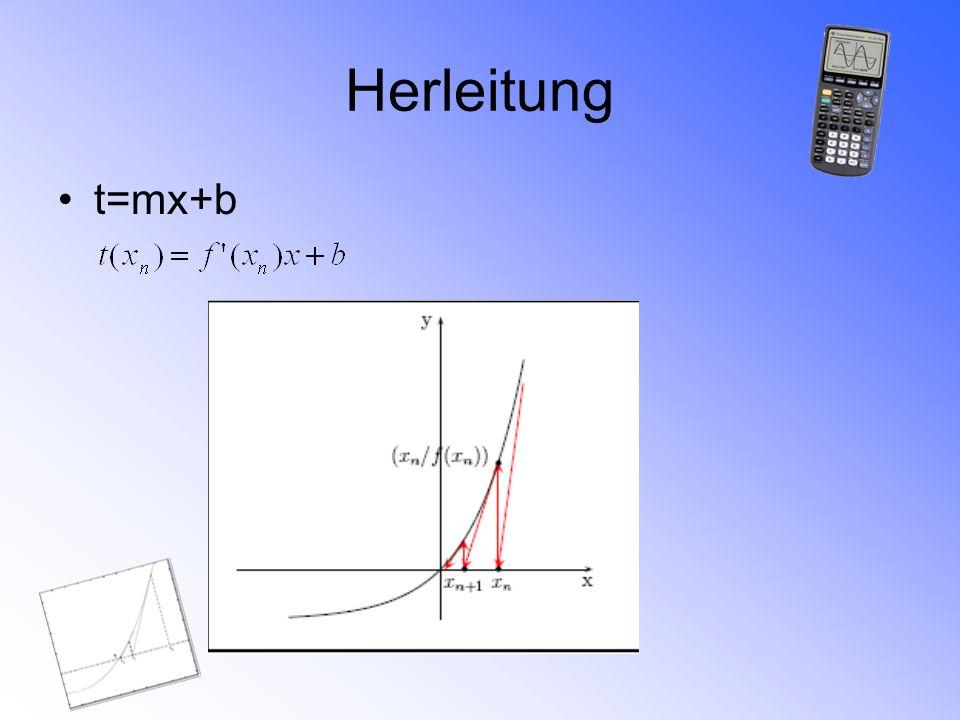 Herleitung t=mx+b