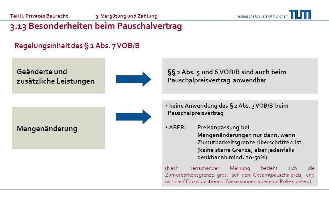 Regelungsinhalt des § 2 Abs. 7 VOB/B
