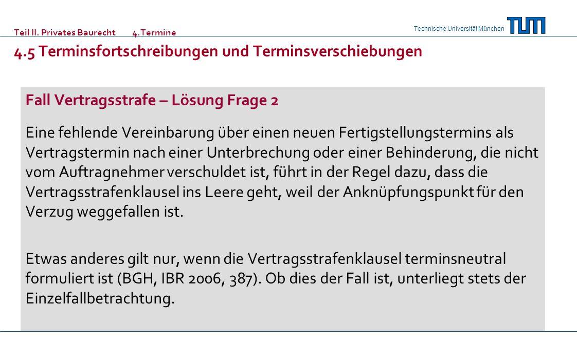 Teil II. Privates Baurecht 4. Termine. 4