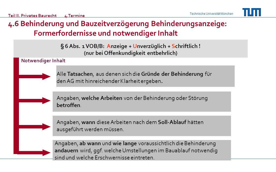 Teil II. Privates Baurecht 4.Termine