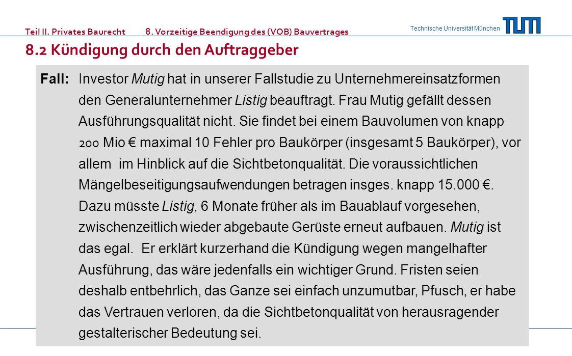 Teil II. Privates Baurecht. 8