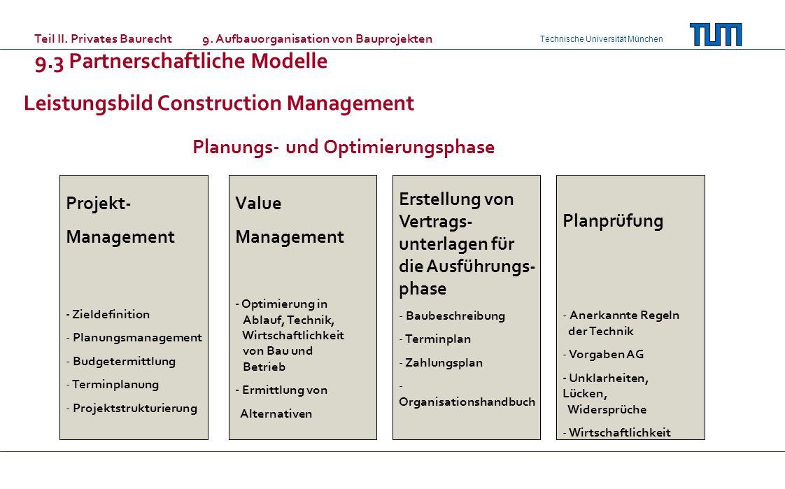 Leistungsbild Construction Management