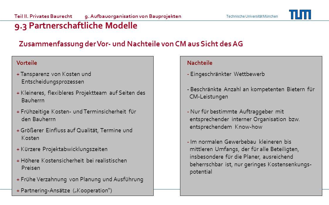 9.3 Partnerschaftliche Modelle