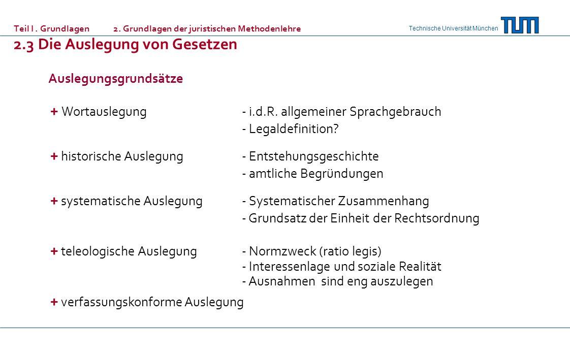 + Wortauslegung - i.d.R. allgemeiner Sprachgebrauch