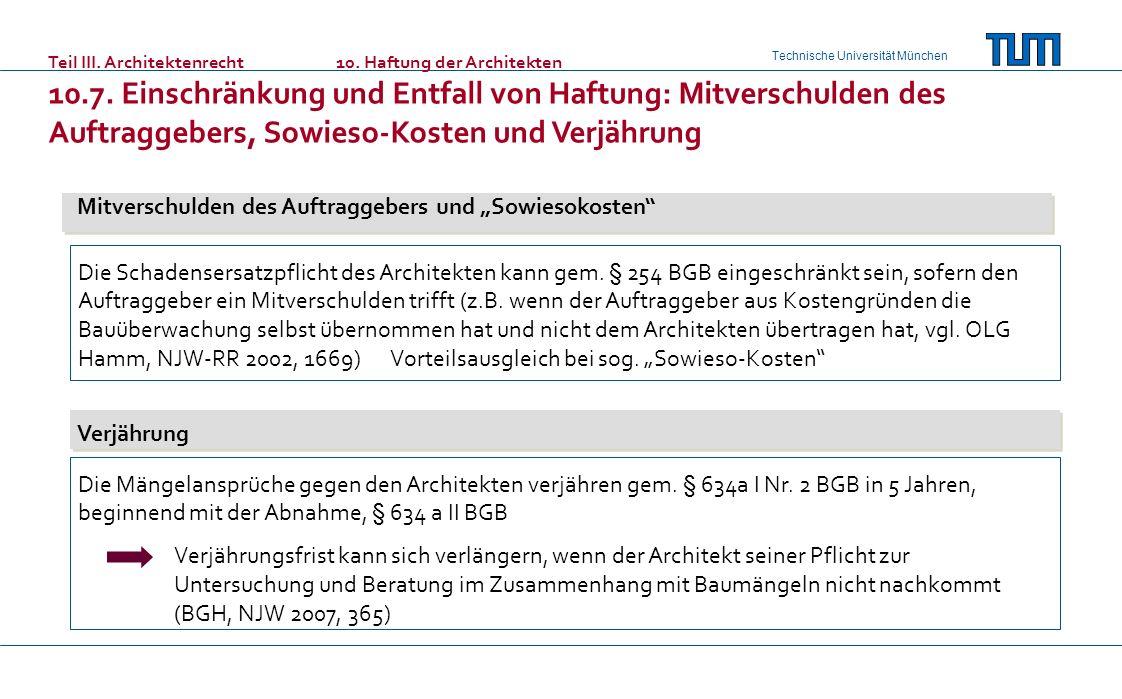 """Mitverschulden des Auftraggebers und """"Sowiesokosten"""