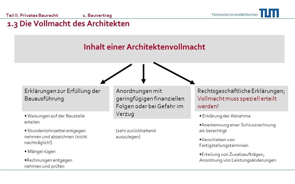 Inhalt einer Architektenvollmacht