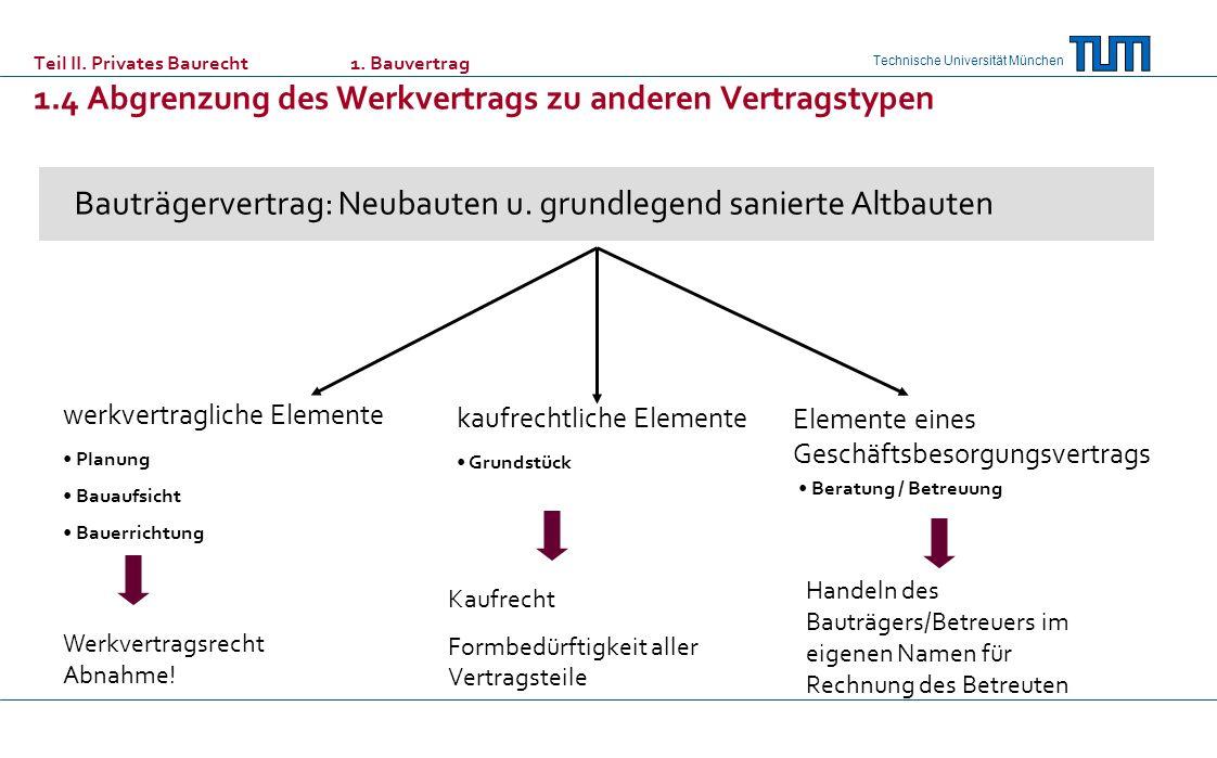 Bauträgervertrag: Neubauten u. grundlegend sanierte Altbauten