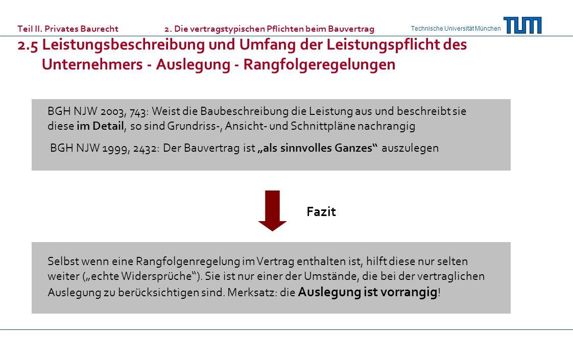 Teil II. Privates Baurecht. 2
