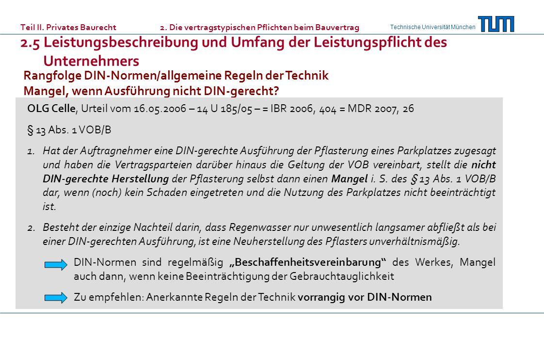 Rangfolge DIN-Normen/allgemeine Regeln der Technik