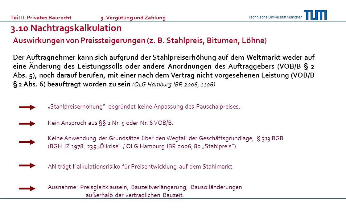 Auswirkungen von Preissteigerungen (z. B. Stahlpreis, Bitumen, Löhne)