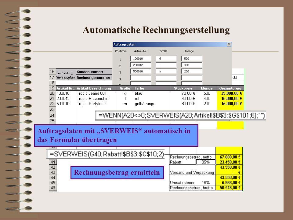 Automatische Rechnungserstellung