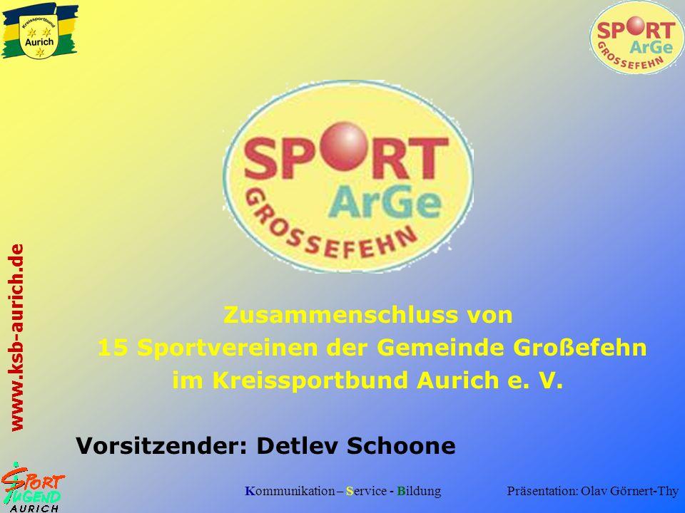 15 Sportvereinen der Gemeinde Großefehn im Kreissportbund Aurich e. V.