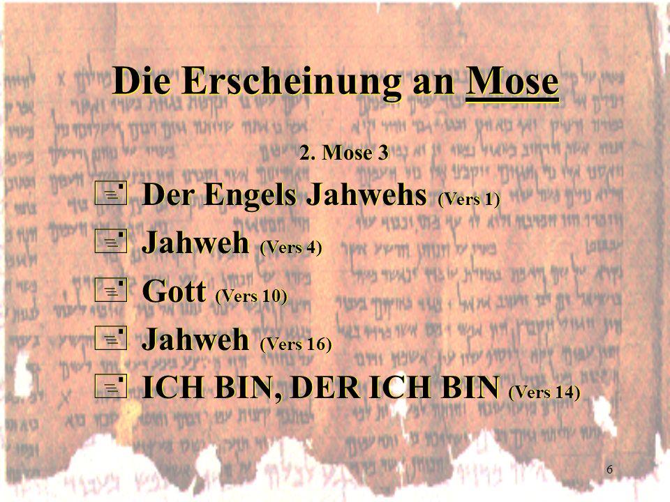 Die Erscheinung an Mose