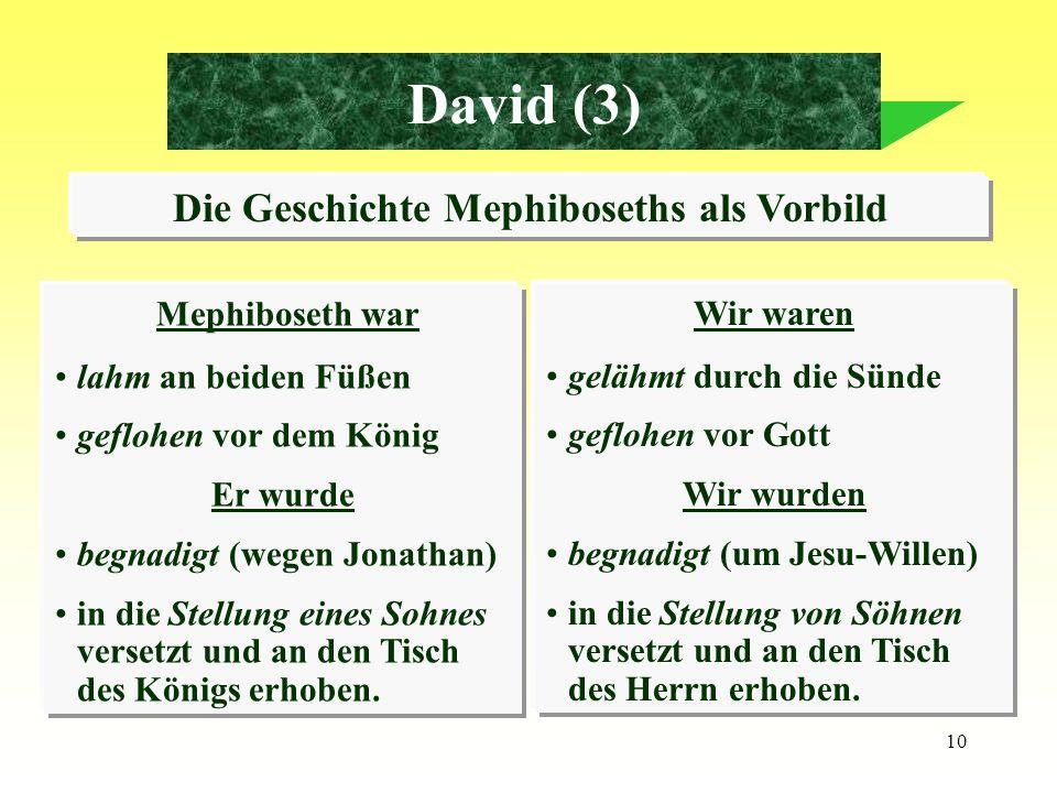 Die Geschichte Mephiboseths als Vorbild