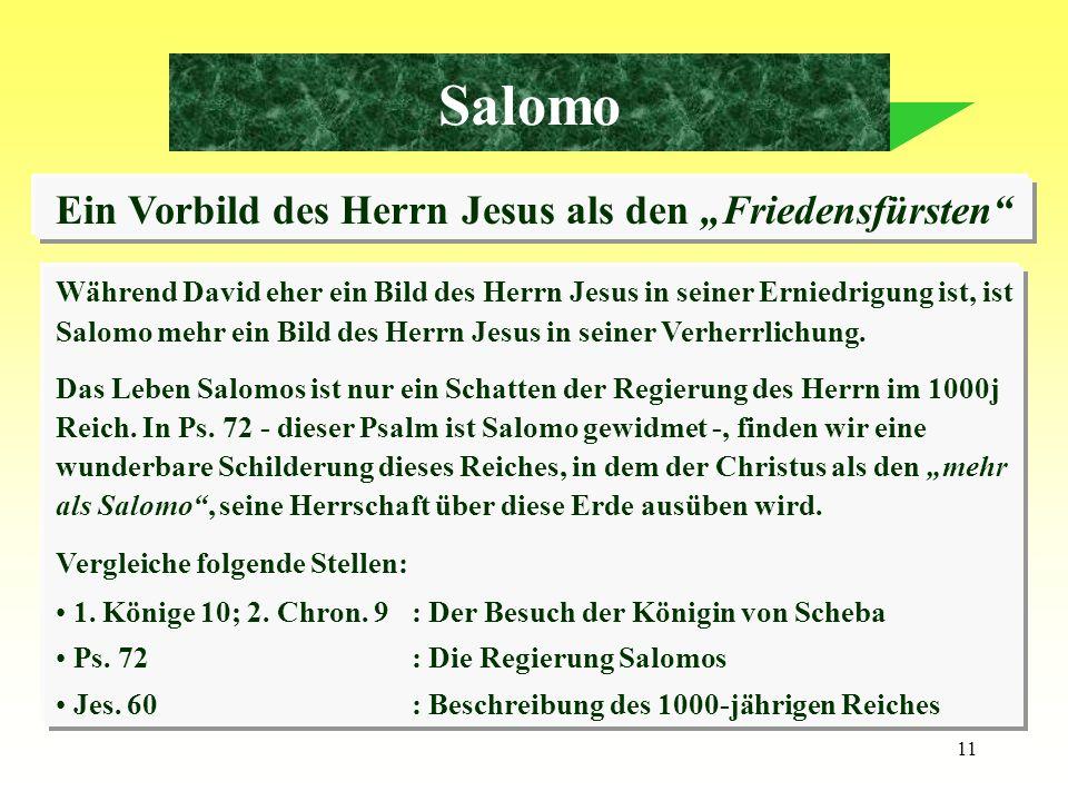 """Ein Vorbild des Herrn Jesus als den """"Friedensfürsten"""