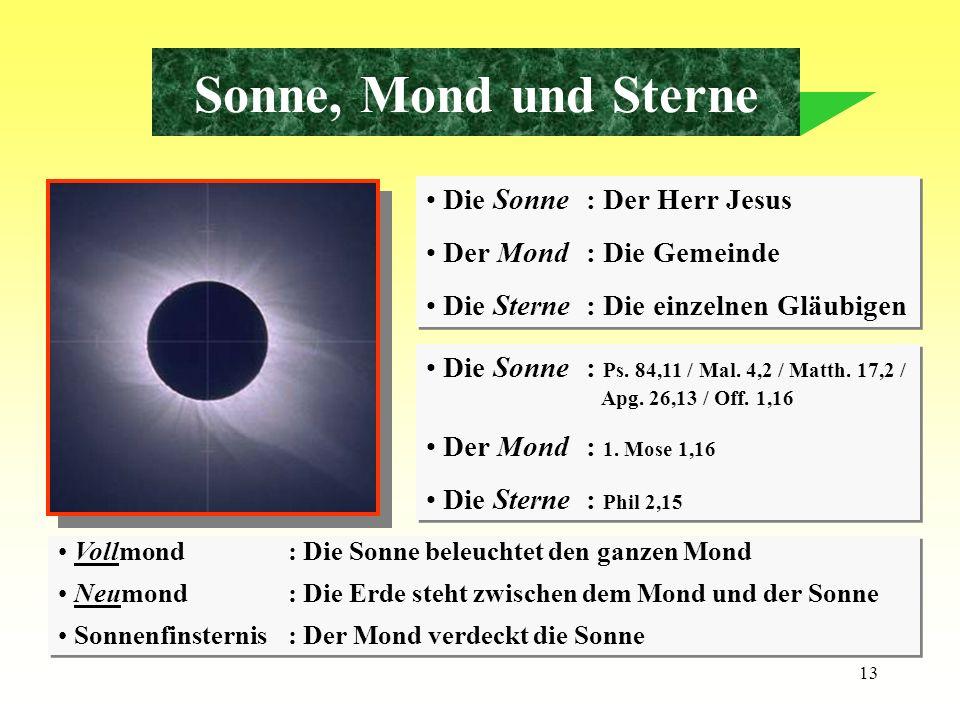 Sonne, Mond und Sterne Die Sonne : Der Herr Jesus