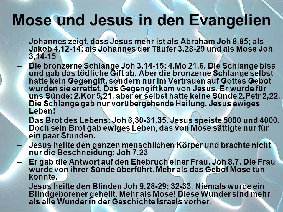 Mose und Jesus in den Evangelien