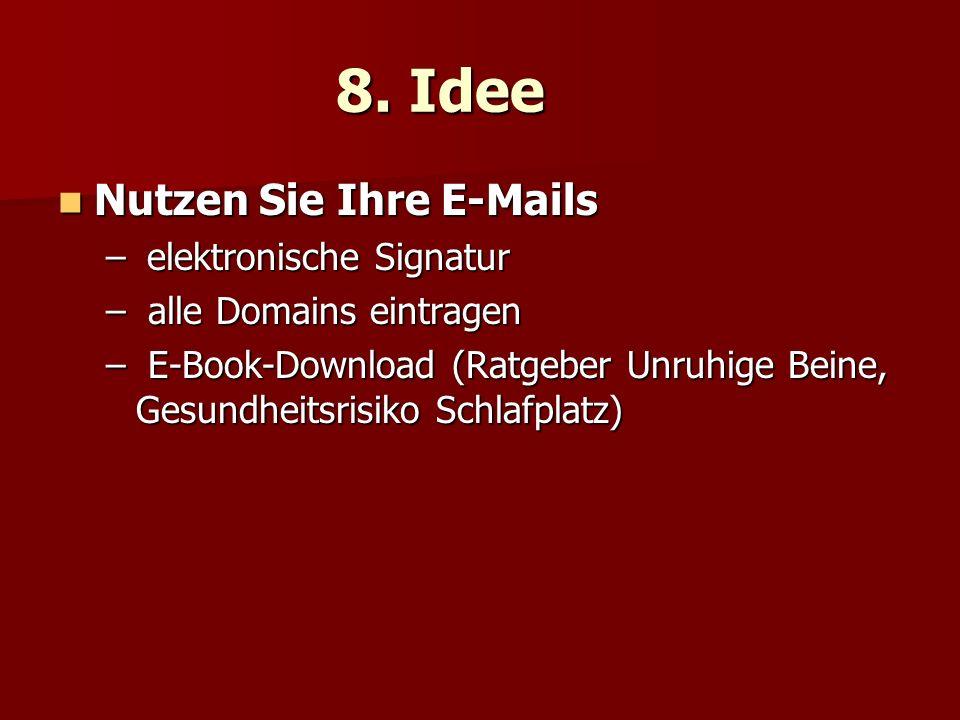 8. Idee Nutzen Sie Ihre E-Mails elektronische Signatur