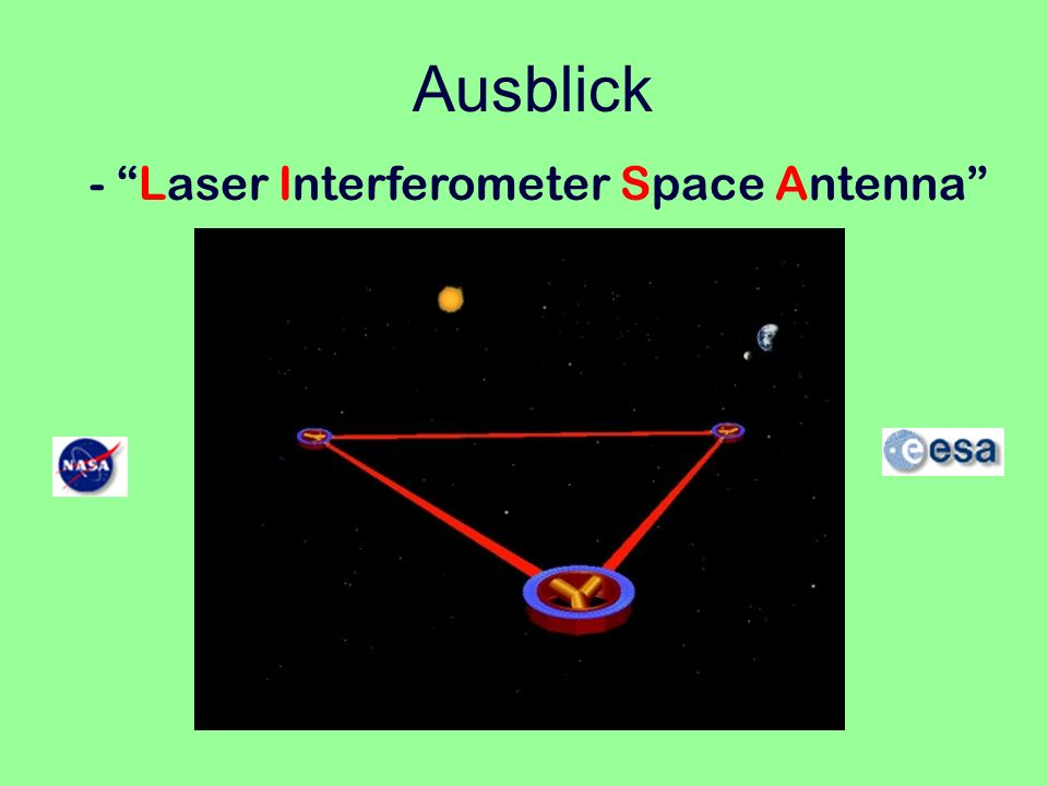 Ausblick - Laser Interferometer Space Antenna