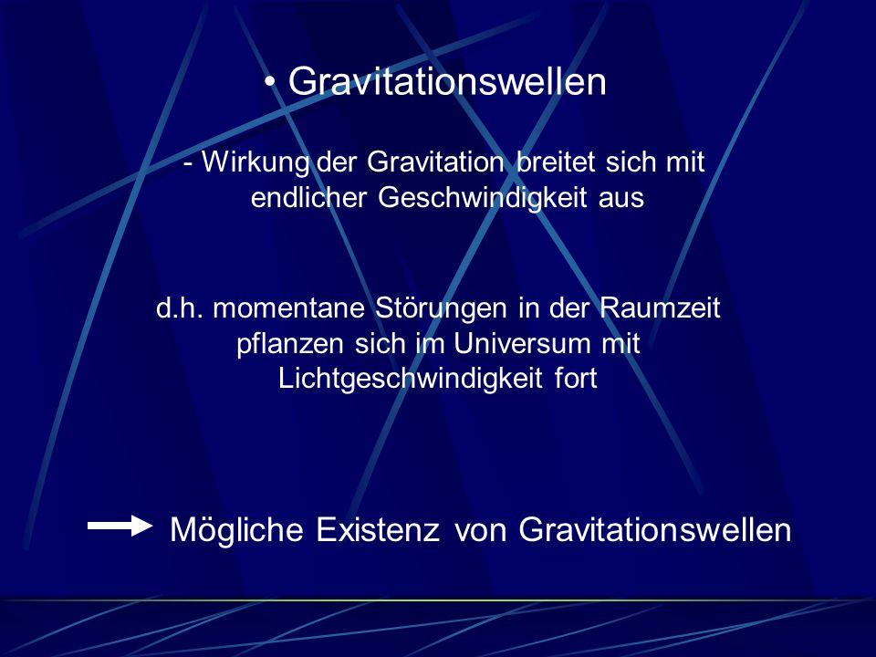 Gravitationswellen Mögliche Existenz von Gravitationswellen
