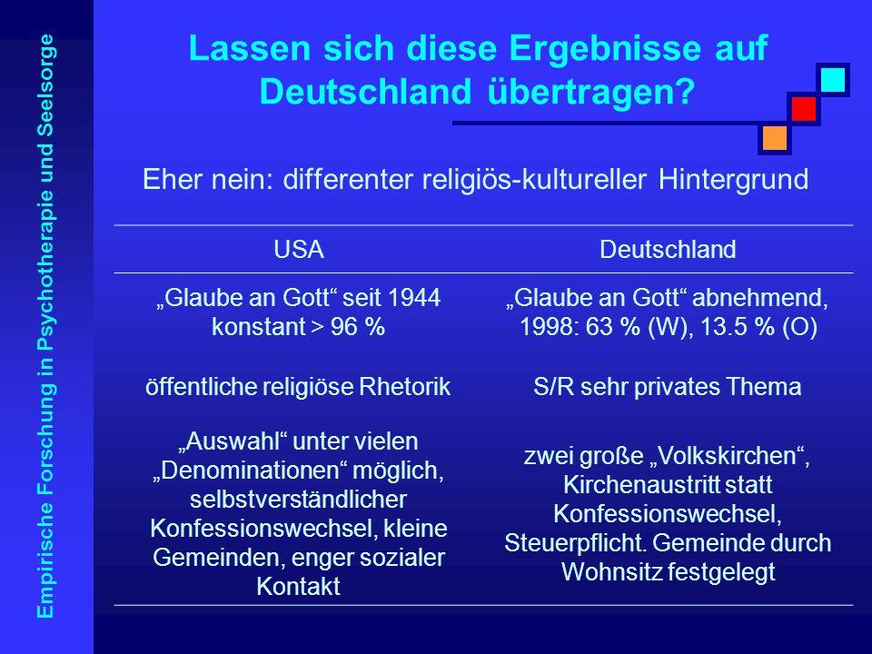 Lassen sich diese Ergebnisse auf Deutschland übertragen