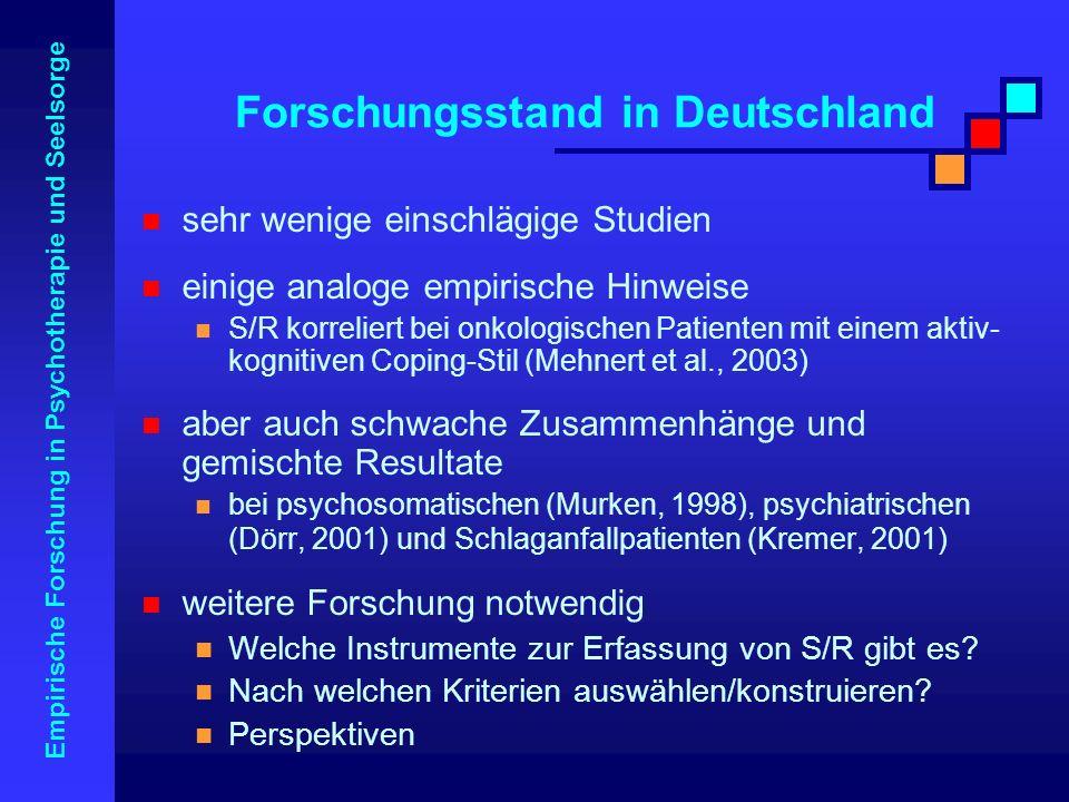 Forschungsstand in Deutschland
