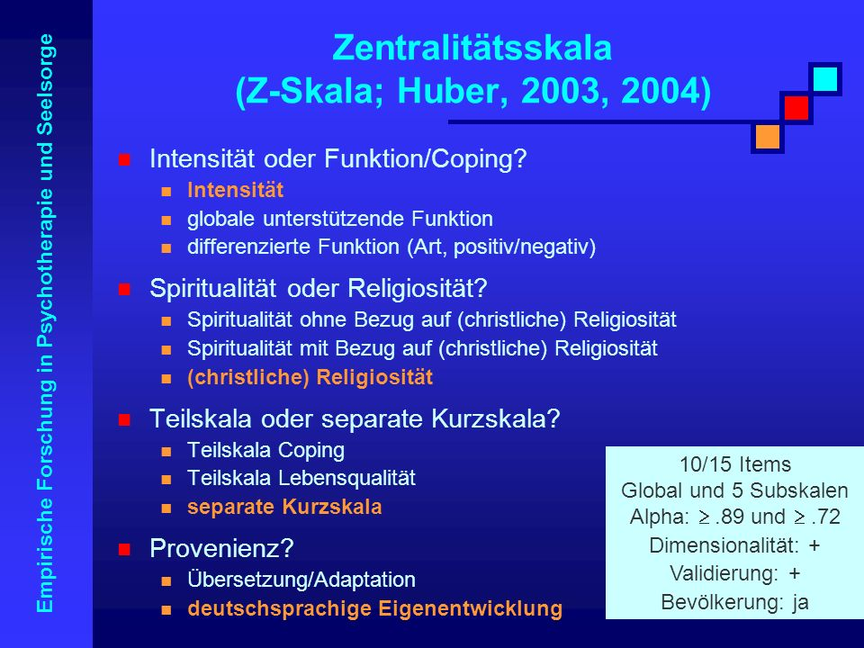 Zentralitätsskala (Z-Skala; Huber, 2003, 2004)