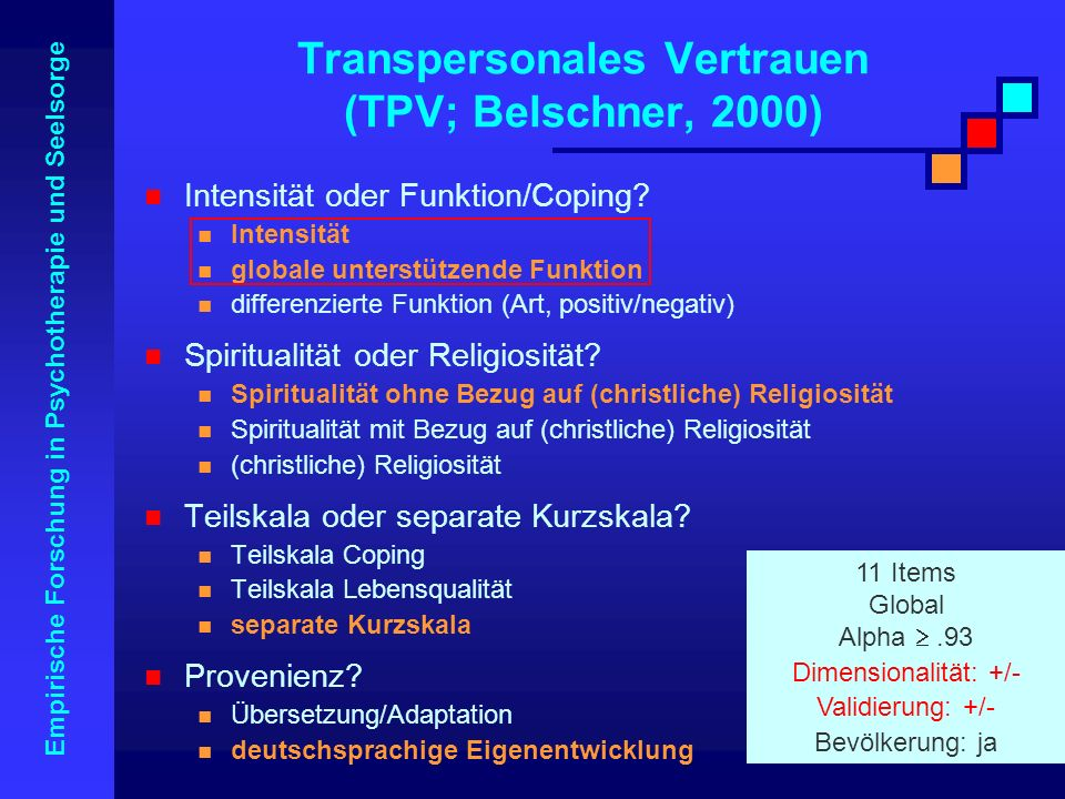 Transpersonales Vertrauen (TPV; Belschner, 2000)