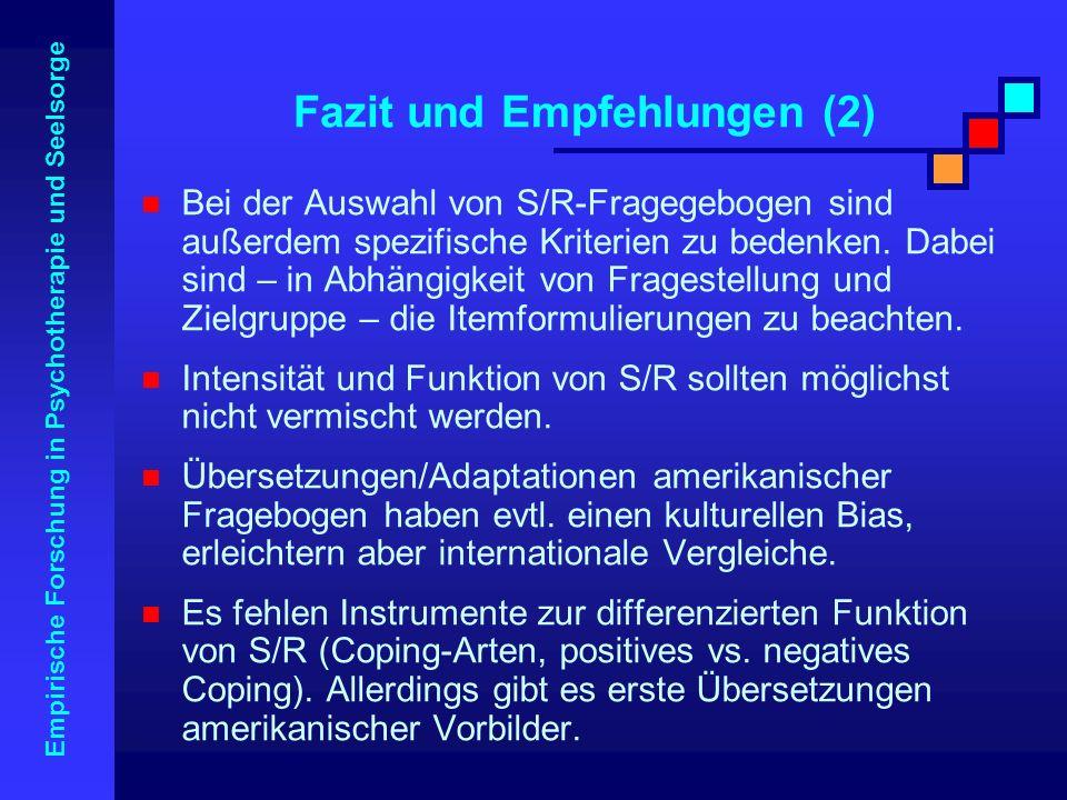 Fazit und Empfehlungen (2)