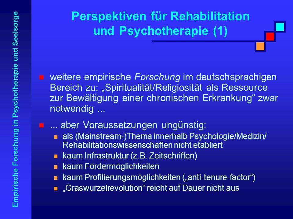 Perspektiven für Rehabilitation und Psychotherapie (1)