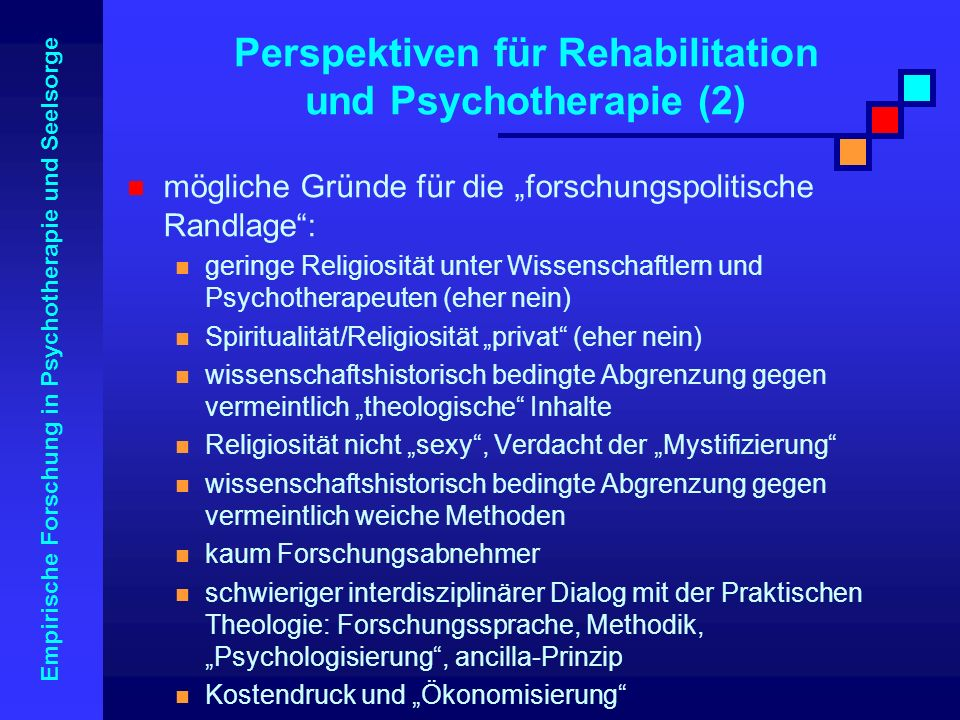 Perspektiven für Rehabilitation und Psychotherapie (2)