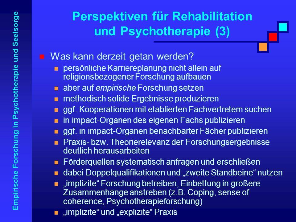 Perspektiven für Rehabilitation und Psychotherapie (3)