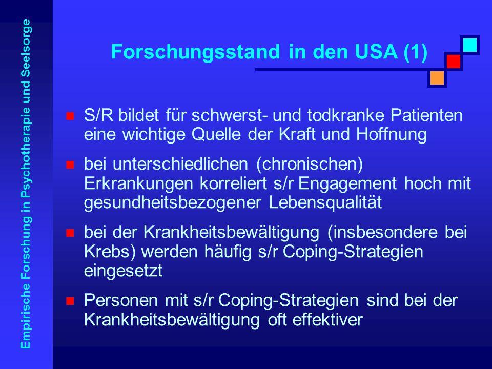 Forschungsstand in den USA (1)