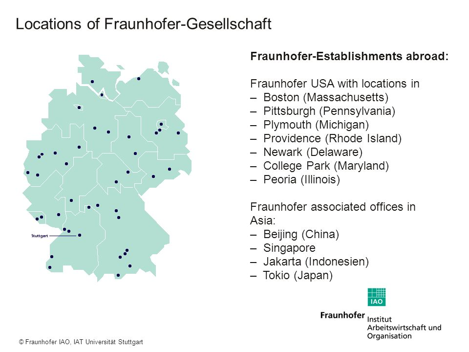 Locations of Fraunhofer-Gesellschaft
