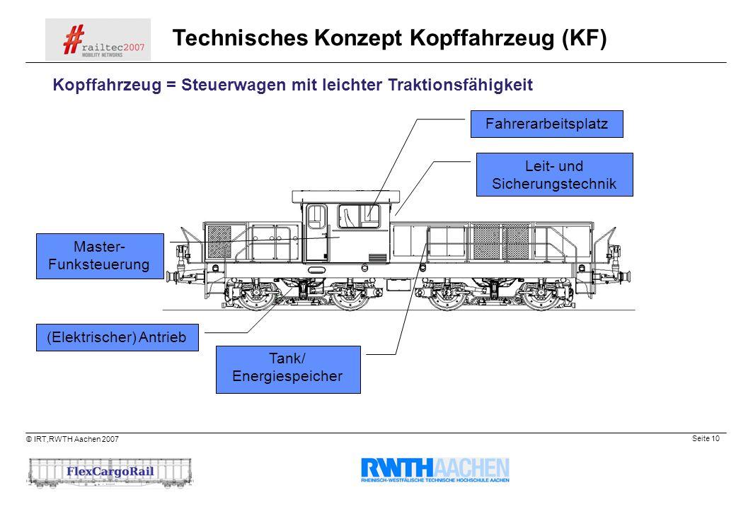 Technisches Konzept Kopffahrzeug (KF)