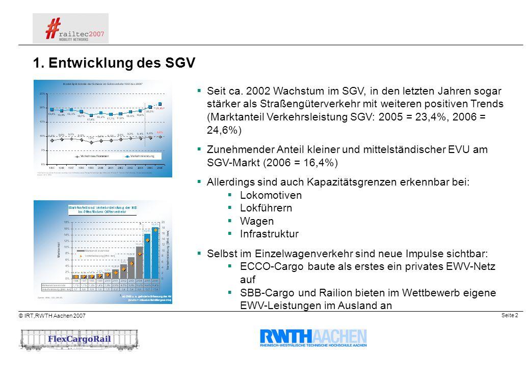 1. Entwicklung des SGV