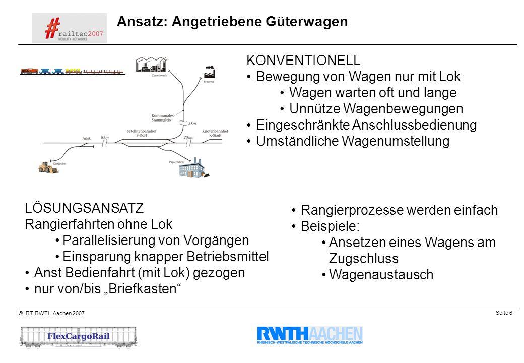 Ansatz: Angetriebene Güterwagen