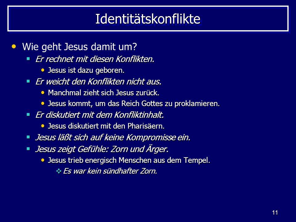 Identitätskonflikte Wie geht Jesus damit um