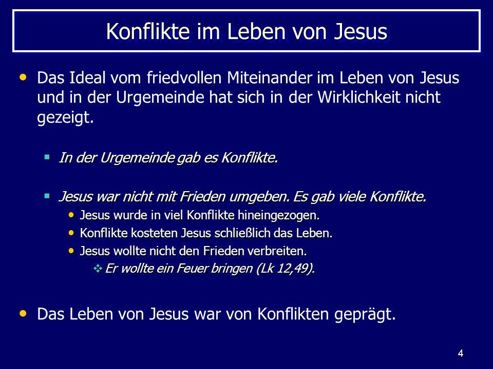 Konflikte im Leben von Jesus