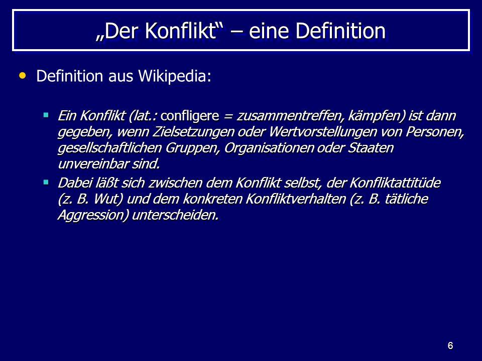 """""""Der Konflikt – eine Definition"""