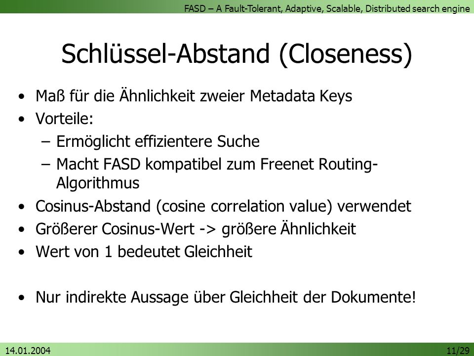 Schlüssel-Abstand (Closeness)