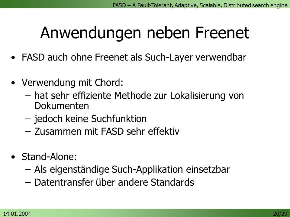 Anwendungen neben Freenet